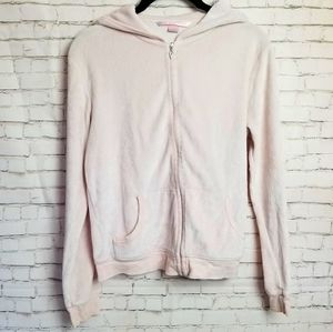 VICTORIA'S SECRET pink velour zip up hoodie